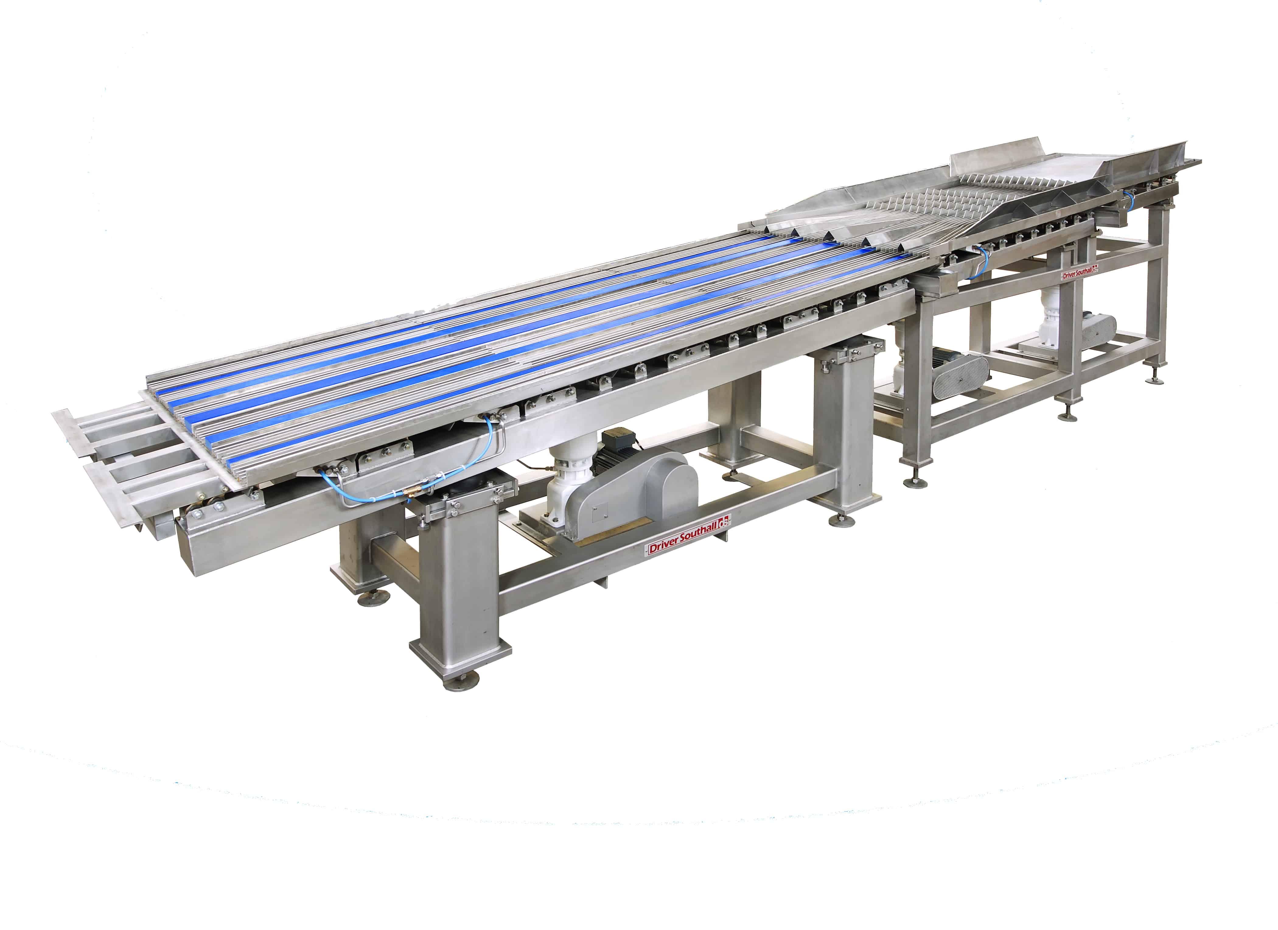 Hydraulic Vibratory Laning Conveyor.